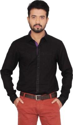 Indian Weller Men's Woven Casual Black Shirt