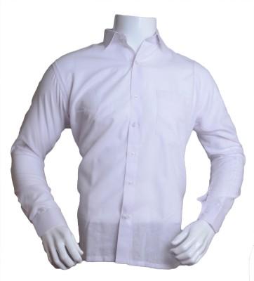 Qube Men's Solid Formal White Shirt