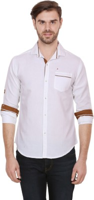 Alive Sport Men's Solid Casual White Shirt