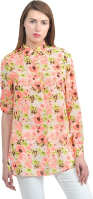 House Of Fett Women's Floral Print Casual Multicolor Shirt