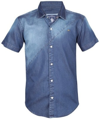 Gini & Jony Boy's Solid Casual Blue Shirt