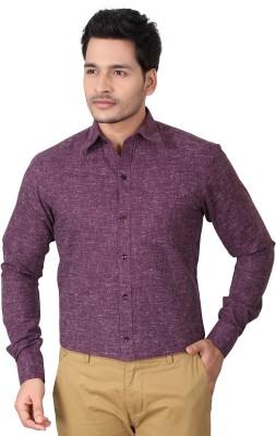 Brinley Men,s Solid Formal Purple Shirt