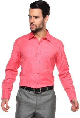 British Club Men's Solid Formal Red Shirt