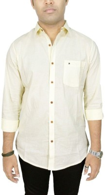 Southbay Men's Solid Formal Yellow Shirt