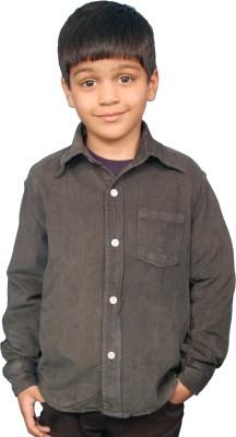 Fashion N Style Boy's Solid Casual Grey Shirt