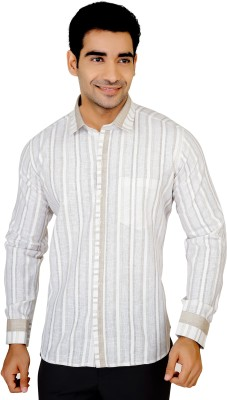 X-Secret Men's Striped Party Multicolor Shirt