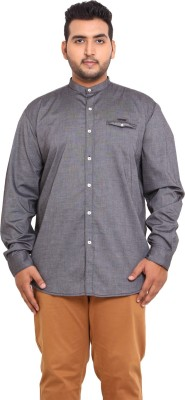 John Pride Men's Solid Casual Grey Shirt
