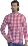Scotchtree Men's Checkered Casual Red Sh...