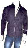 Indian Touch Men's Solid Casual Black Sh...