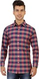 Jazzup Men's Checkered Casual Red Shirt