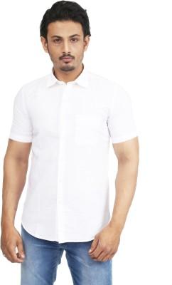 Success Men's Solid Casual Linen White Shirt