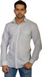 Ruti Men's Striped Formal Grey Shirt
