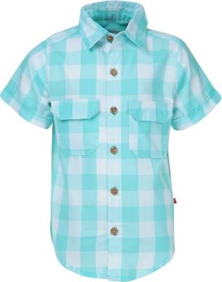 Nino Bambino Boy's Checkered Casual Green Shirt