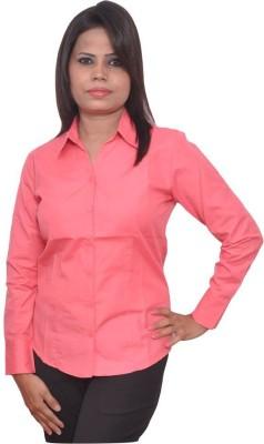 Jitendrastore24 Women's Solid Formal Pink Shirt