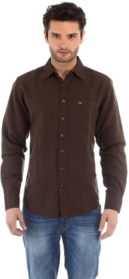 Red Tape Men's Solid Casual Brown Shirt