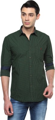 British Club Men's Checkered Casual Green Shirt