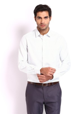 Nord51 Men's Striped Formal White Shirt