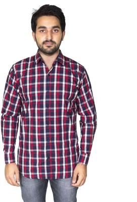 Mangue Men's Checkered Casual Red Shirt