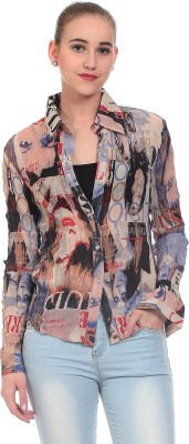 Wild Hawk Women's Printed Casual Multicolor Shirt