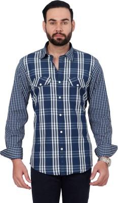 Urban Republic Men's Checkered Casual Blue, White Shirt