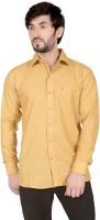 Tomiris Formal Shirts (Men's) - TomIris Men's Solid Formal Yellow Shirt