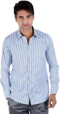 S9 Men's Checkered Casual Blue, Green, White, Black Shirt