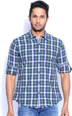 HRX by Hrithik Roshan Men's Checkered Casual Blue Shirt