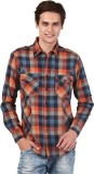 Oxolloxo Men's Checkered Casual Multicol...