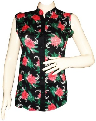Dream Fashion Women's Printed Casual Multicolor Shirt