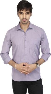 Acropolis Men's Solid Formal Purple Shirt