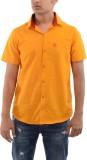 Moshi Men's Solid Casual Yellow Shirt