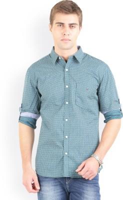 Bay Ridge Men's Printed Casual Green Shirt