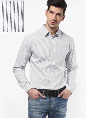 Jack & Jones Men's Striped Casual White Shirt