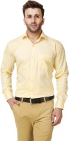 Austin m Formal Shirts (Men's) - Austin-M Men's Solid Formal Yellow Shirt