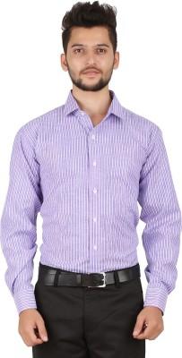 Stylo Shirt Men's Striped Casual Purple Shirt