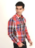 Yellow Tree Men's Checkered Casual Red S...