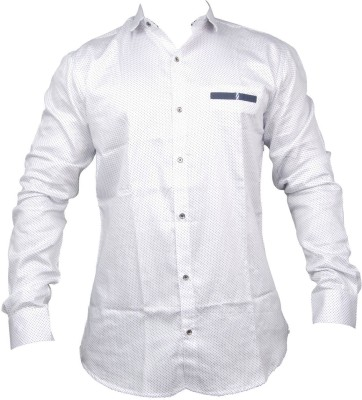 ZEDX Men's Solid Formal, Party, Casual White Shirt