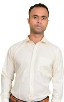 Srjls Formal Shirts (Men's) - Srjls Men's Solid Formal Yellow Shirt