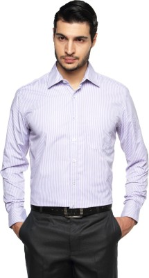 British Club Men's Striped Formal Purple, White Shirt