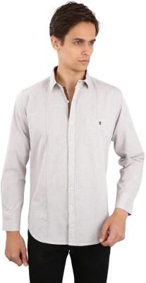 Eden Elliot Men's Solid Casual Brown Shirt