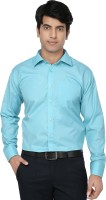 Spaky Formal Shirts (Men's) - Spaky Men's Solid Formal Blue Shirt