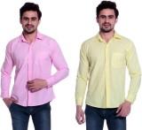 Calibro Men's Solid Formal Pink, Yellow ...