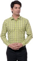 Dewberrys Formal Shirts (Men's) - Dewberrys Men's Checkered Formal Green Shirt