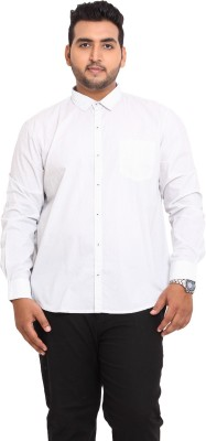 John Pride Men's Solid Casual White Shirt