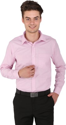 Flags Men's Woven Formal Pink Shirt