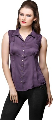 Desert Rose Women's Solid Party Purple Shirt