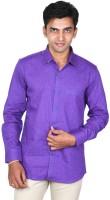 Scissors Formal Shirts (Men's) - Scissor's Men's Floral Print Formal Purple Shirt