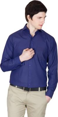 Robin Rider Men's Solid Casual Blue Shirt