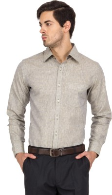 Logo Apparel Men,s Solid Formal Beige Shirt