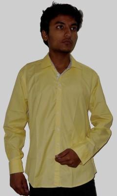 Silvercuffs Men's Solid Casual Yellow Shirt
